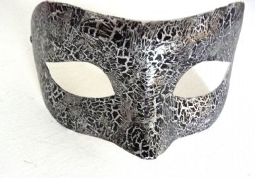Genuine Venetian Designer Mask Black & Silver (1)